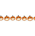corona halloween pumpkin seamless border vector image