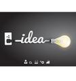 Creative light bulb idea Inspiration concept vector image