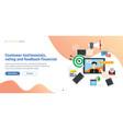 customer testimonials rating and feedback vector image