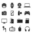 devices and gadgets set computer and vector image