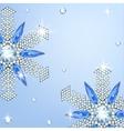 Diamond snowflake vector image vector image