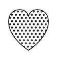 dotted heart love valentines card vector image vector image