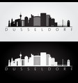 dusseldorf skyline and landmarks silhouette vector image vector image