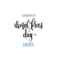 february 11 - armed forces day - liberia hand vector image vector image