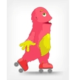 Funny Monster Roller vector image vector image
