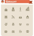 Germany travel icon set vector image vector image