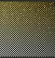 gold glitter confetti falling golden star vector image vector image