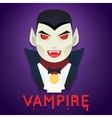 Halloween Party Vampire Role Character Bust Icons vector image vector image
