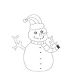 hand drawn snowman vector image
