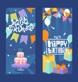happy birthday typographic banner vector image vector image