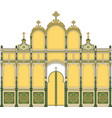 iconostasis1 architectural object vector image vector image