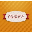 International Labor Day Holiday Banner Template vector image vector image