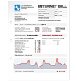 Internet ISP Bill Document Template