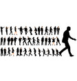 isolated set walking people collection of vector image vector image