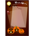 Jack-o-Lantern Pumpkins with Candle Light on Night vector image
