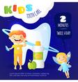 Kids Dental Care Poster vector image vector image