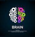 logo brain color silhouette vector image vector image