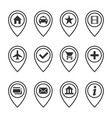 map marker set vector image vector image