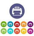 modern laser printer set icons vector image vector image