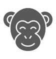 monkey glyph icon zoo and africa animal sign vector image vector image