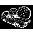 muscel car in black background vector image