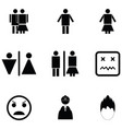person icon set vector image