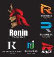r letter based theme logo set volume 2 vector image vector image