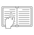 read book icon outline style vector image vector image