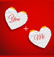 romantic love template vector image vector image
