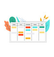 scrum board in flat style vector image vector image
