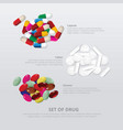 set drug 3 group realistic vector image