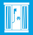 shower cabin icon white vector image vector image