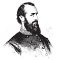stonewall jackson vintage vector image vector image