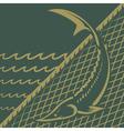 Sturgeon fishing vector image