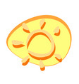 sun toy cartoon sketches object element vector image