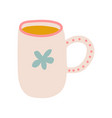 tea mug cute ceramic crockery cookware vector image vector image