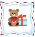 teddy bear and gift vector image