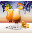 tropical cocktails vector image