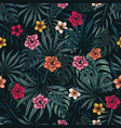tropical floral colorful seamless pattern vector image