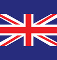 united kingdom flag for independence day and vector image vector image