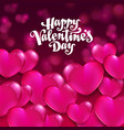valentine day flyer vector image vector image