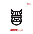 viking icon vector image