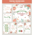 vintage romantic floral save date invitation vector image vector image