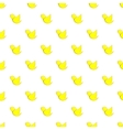Yellow bird pattern cartoon style vector image vector image