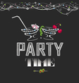 party time poster vector image