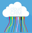 cloud crm solution template vector image