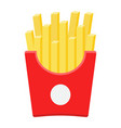 french fries flat icon food and drink fast food vector image