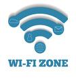 Icon WIFI zone free wi-fi vector image
