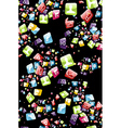 Smart phone apps pattern vector image