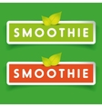 Smoothie label sign vector image